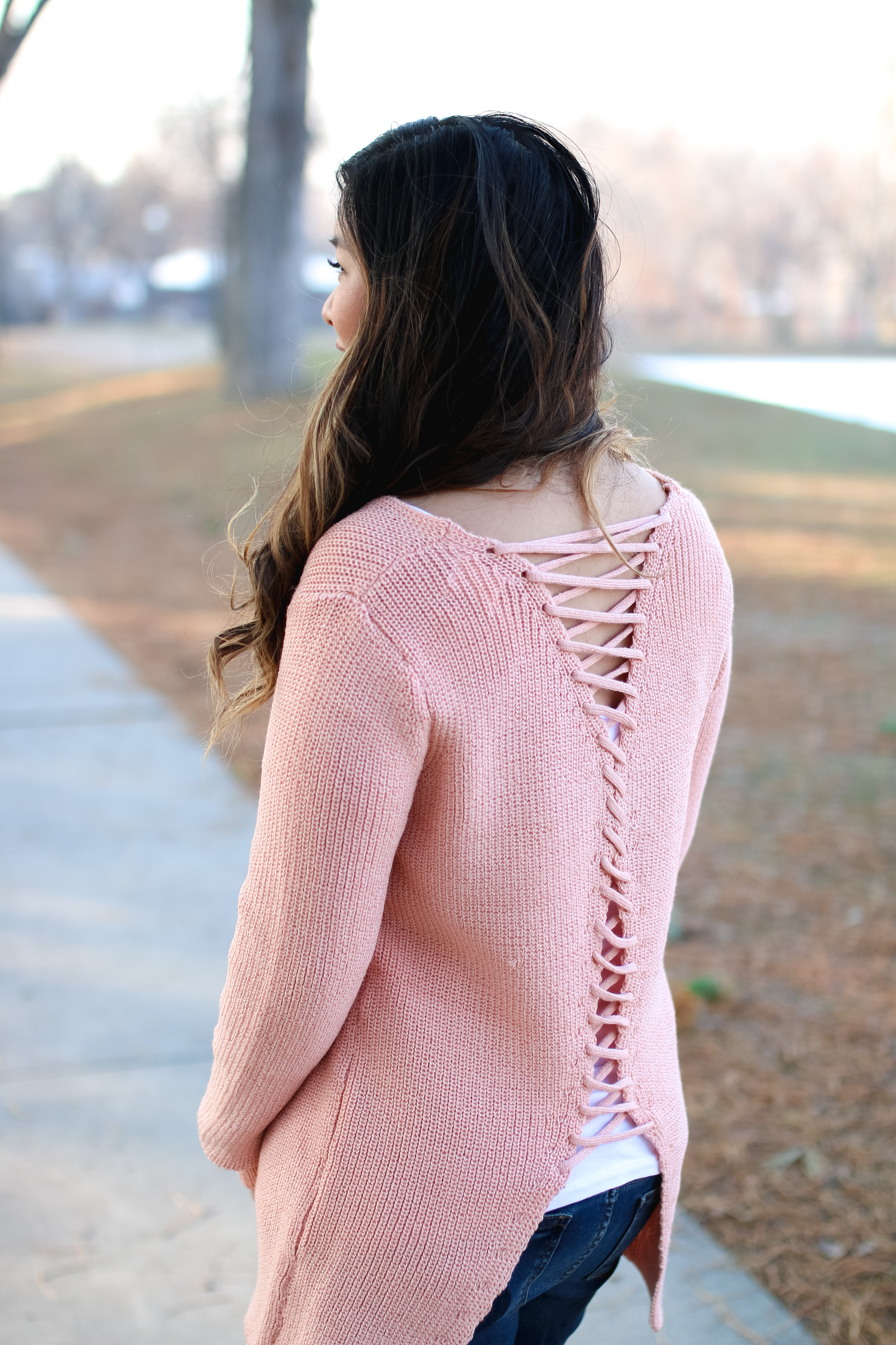 BB Styled Boutique Lace Up Sweater