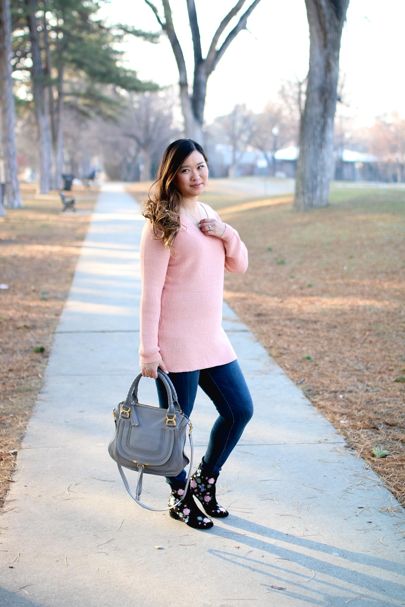 Chloe Marcie Grey Bag