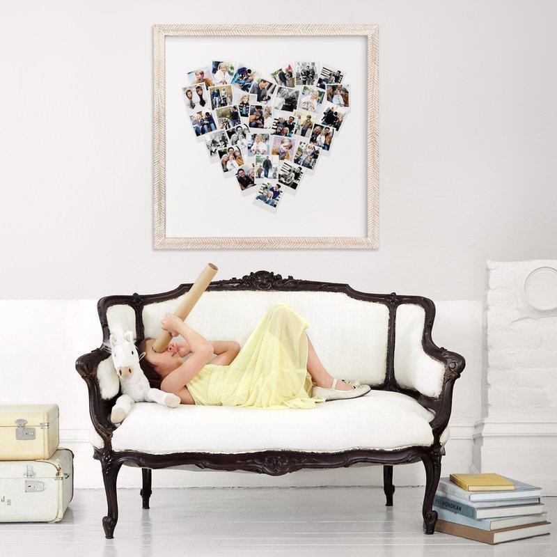 Valentines day gift idea: heart snapshot mix photo art