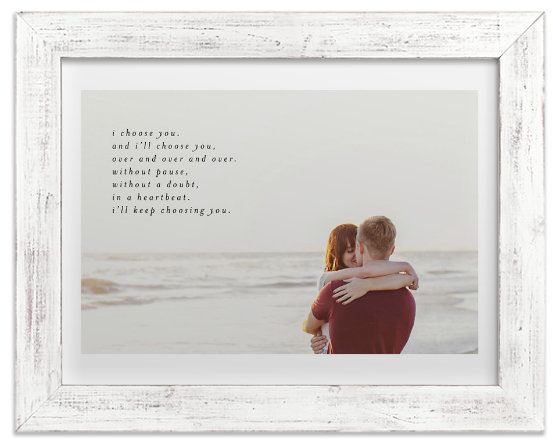 Valentines day gift idea: minted customized quote