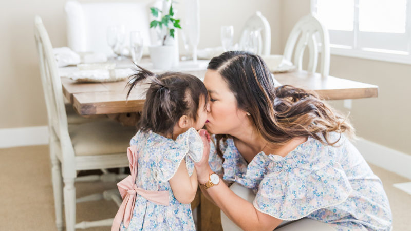 Mommy and Me Outfits: Spring Florals and Ruffles + Linkup!