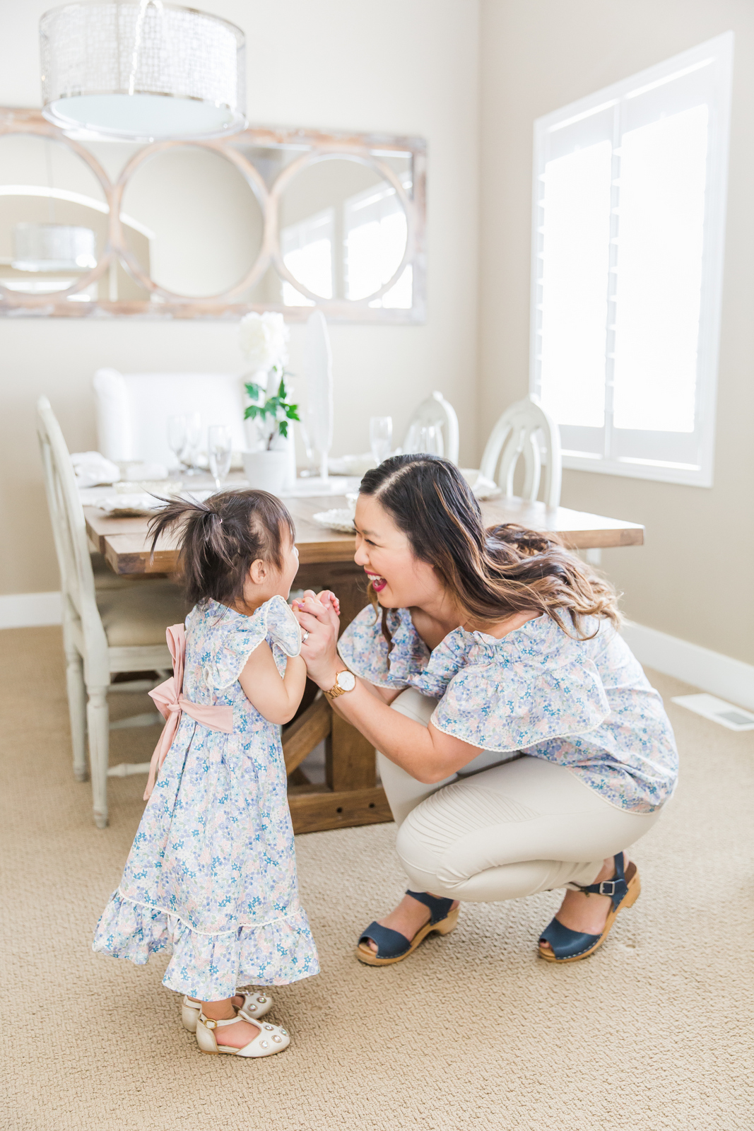 Mommy and me outfits: Spring Florals & Ruffles from Ele Story