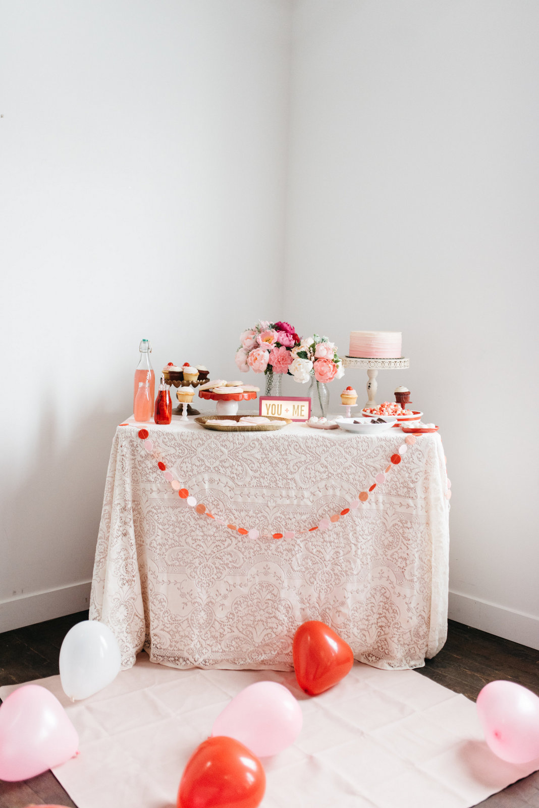 Family Valentine's Day Ideas: Valentine's Day Dessert Table