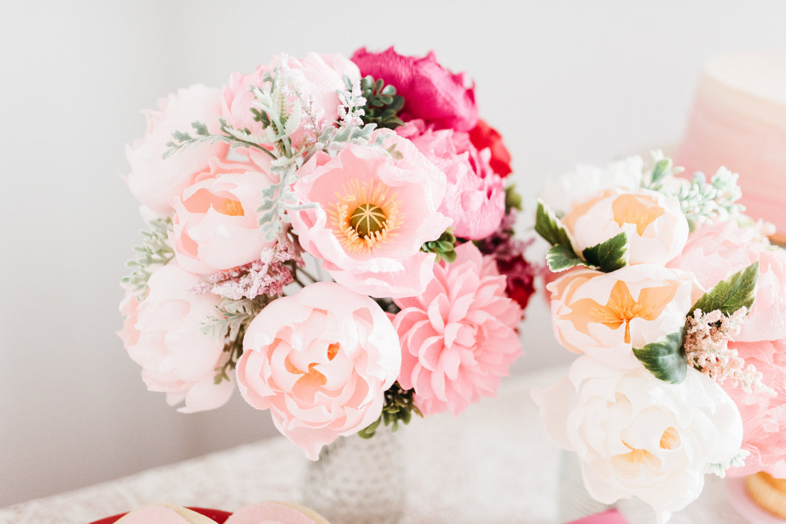Paper flowers by The Lovely Ave