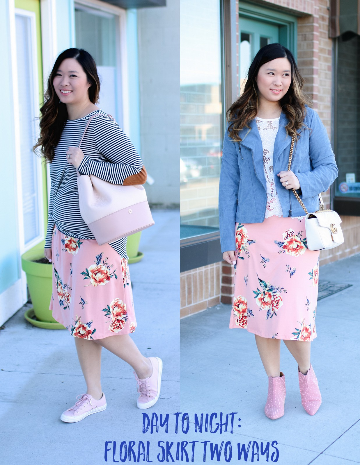Day to Night in a floral skirt