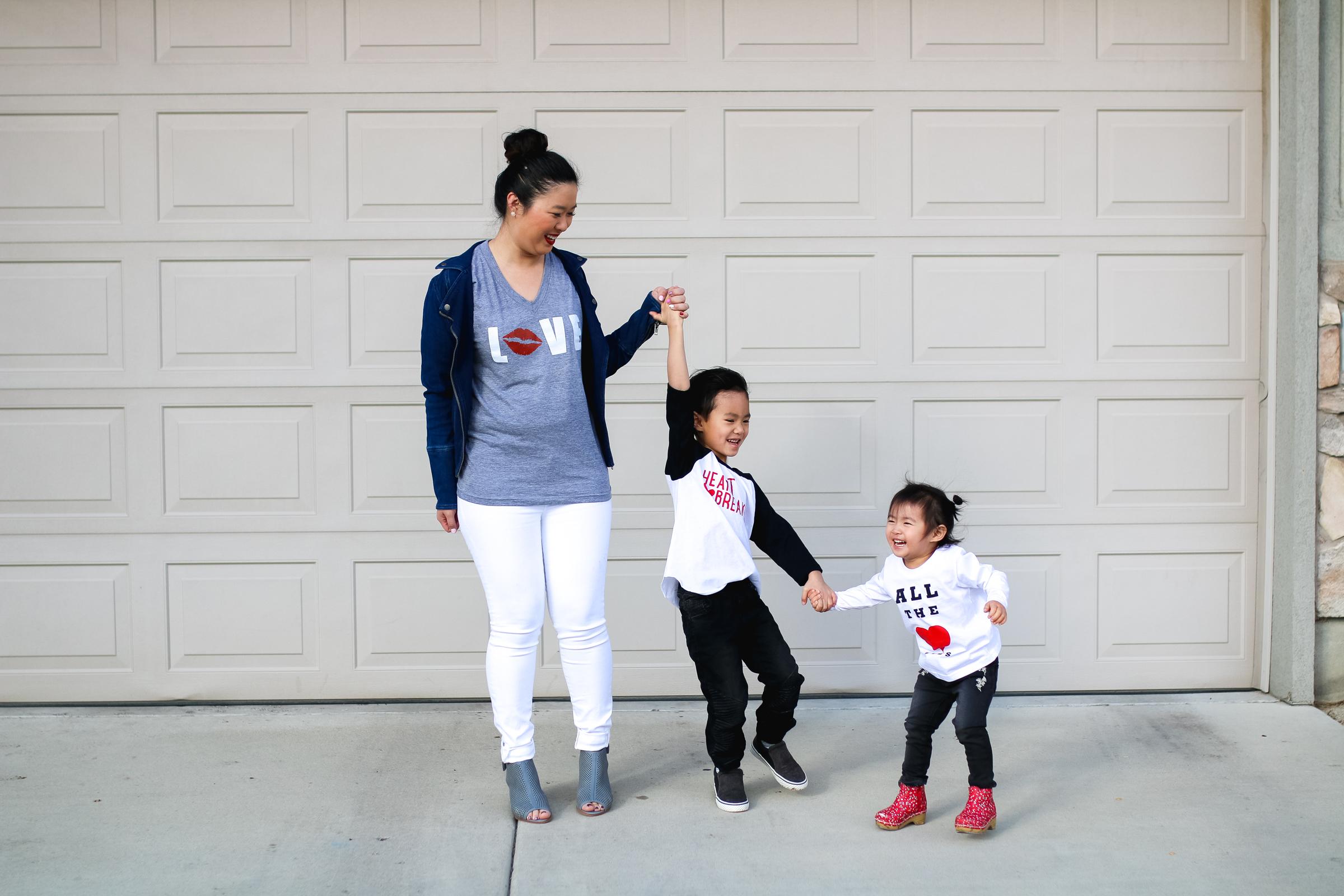 Family Valentine's Day shirts