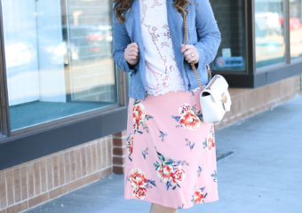 Day to Night: Two Chic Ways To Style A Floral Skirt + Gucci Bag Giveaway!
