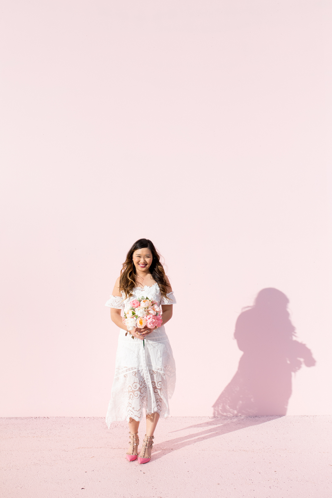 Off the shoulder white lace dress from ASOS