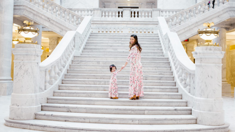 Mommy and Me Outfits: Floral Maxi Dresses