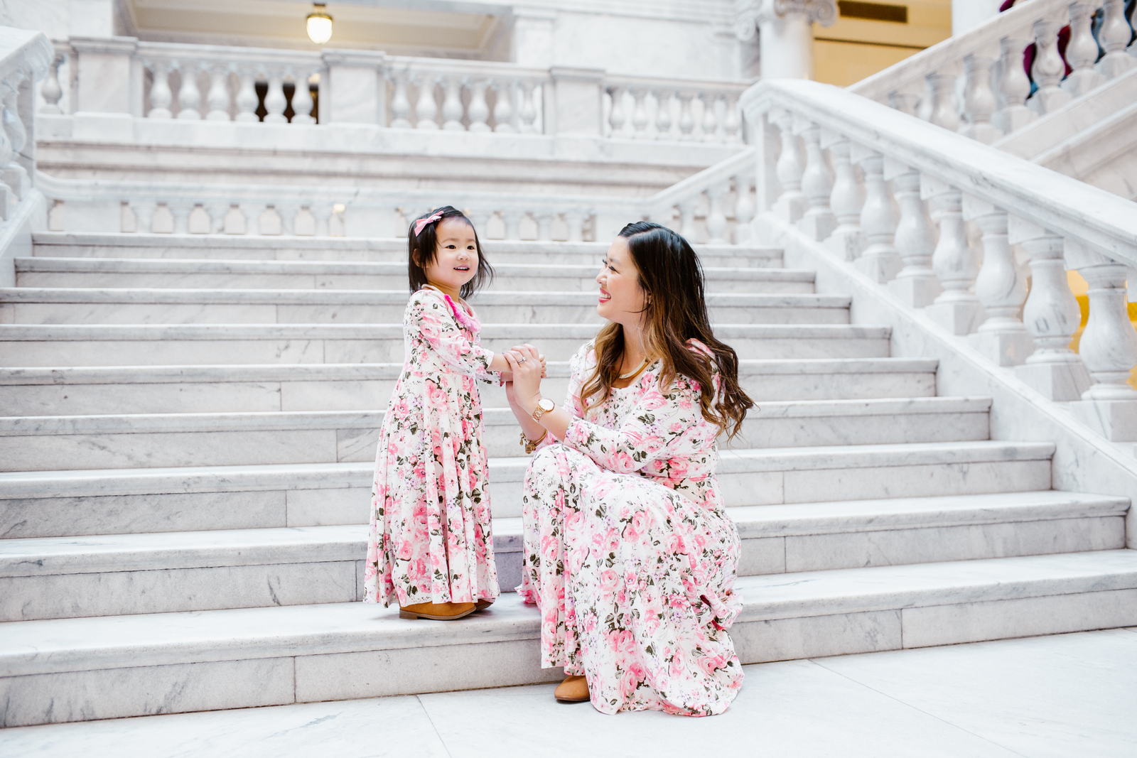 Mommy and Me Outfits: Maxi Floral Dress from Shop Maisie Jayne