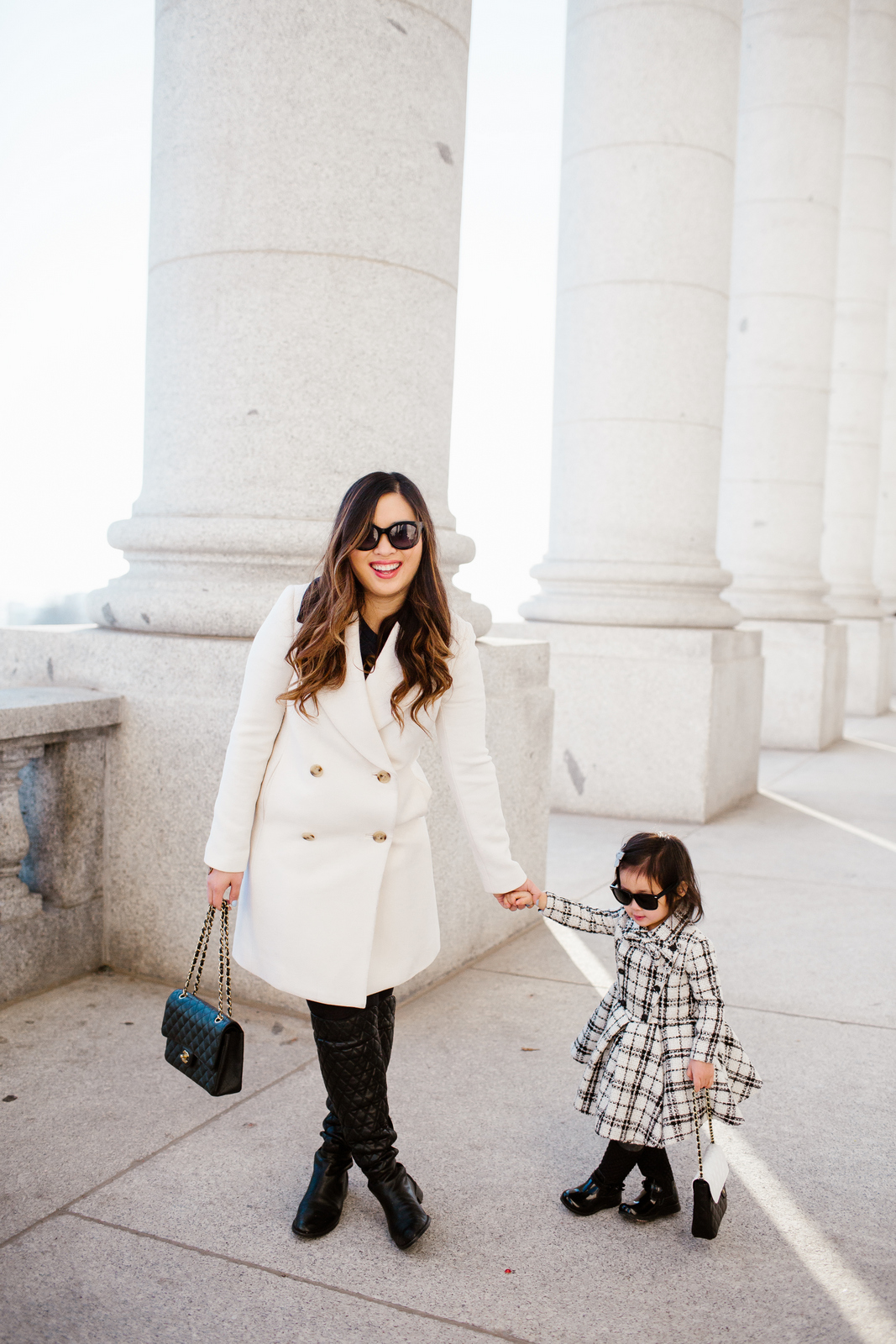 Mommy and Me Outfits by Sandy A La Mode: Classic Black and White Fashion