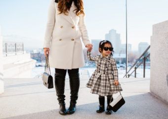 Mommy and Me Outfits: Classic Black and White Fashion