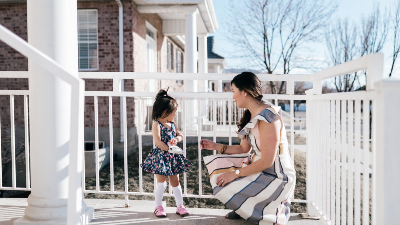 Mommy and Me Outfits: Pretty Easter Dresses + Linkup!