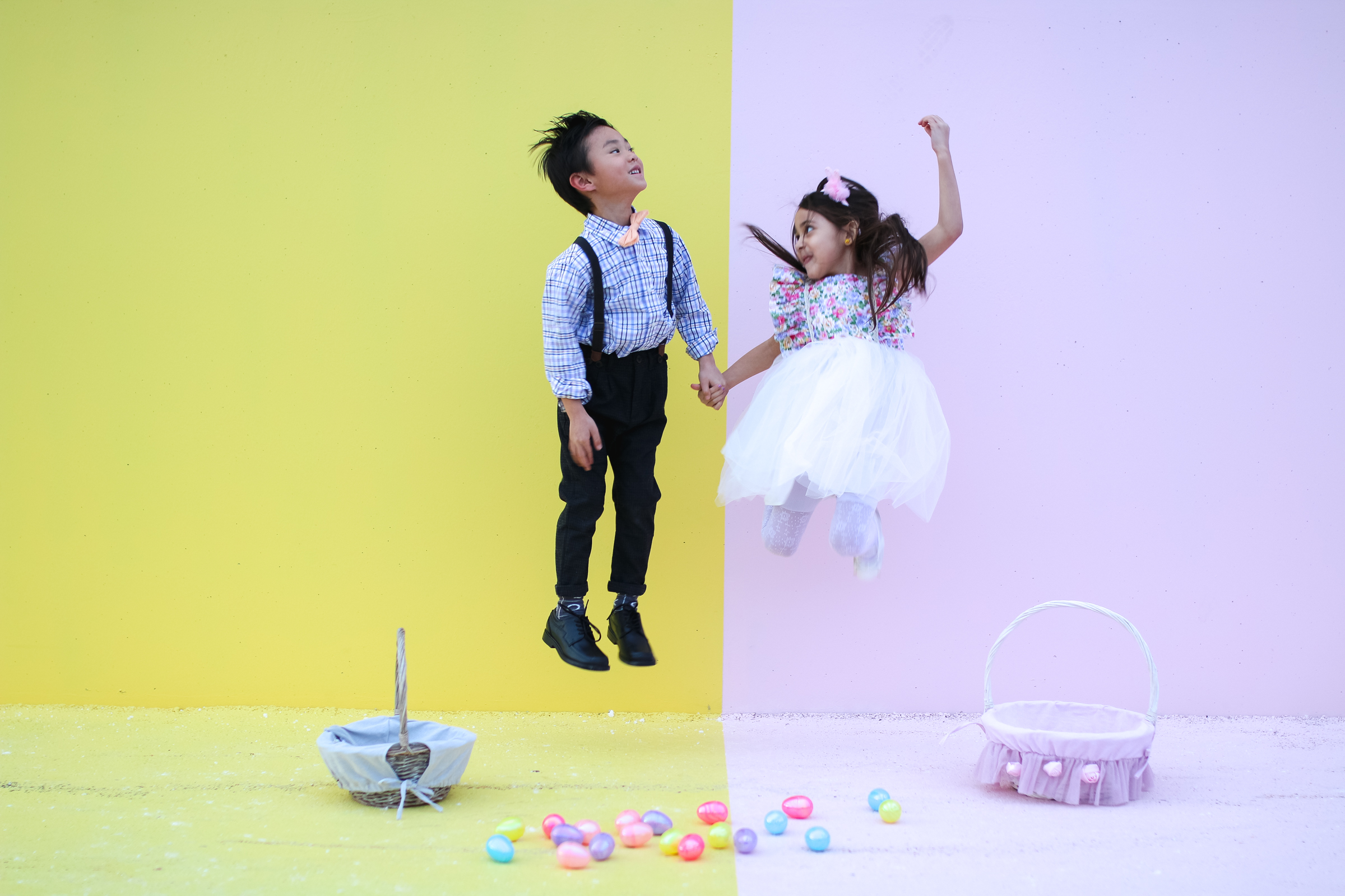 Boy and Girl Easter Fashion by fashion blogger Sandy A La Mode