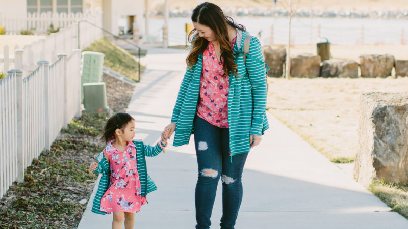 Mommy and Me Outfits: Layers for Spring Outfit + A Virtual Book Tour