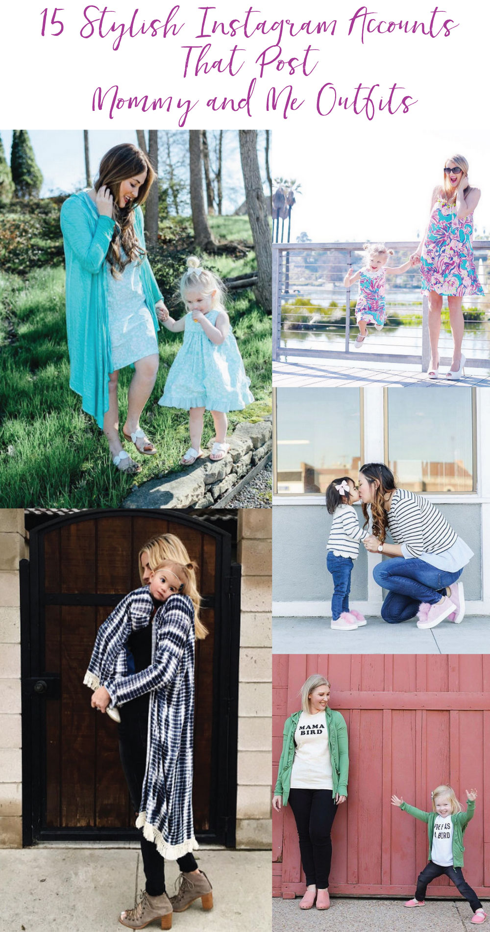 15 Stylish Instagram Accounts That Post Mommy and Me Outfits by fashion blogger Sandy A La Mode