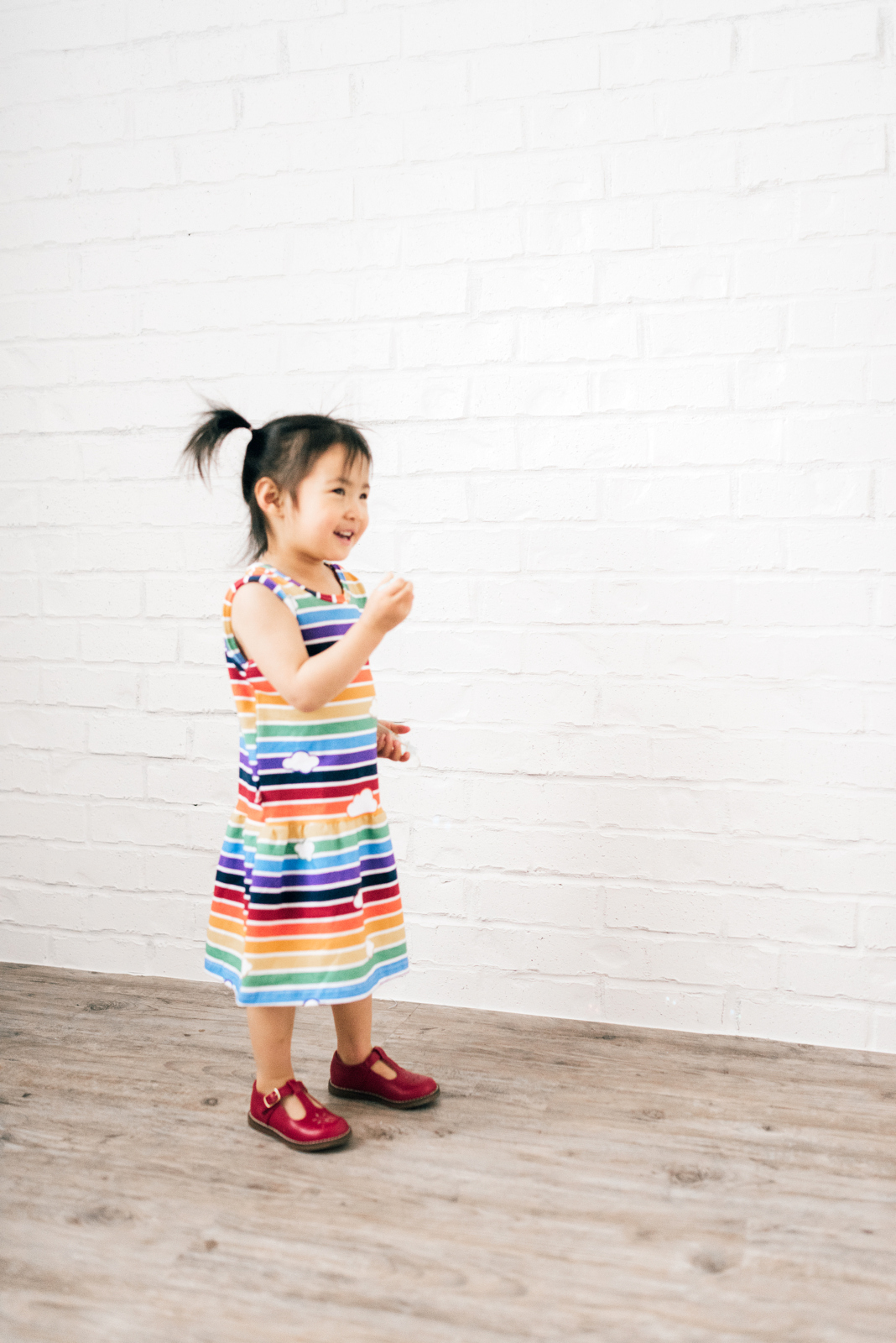 Mommy and Me Outfit: Rainbow Stripes with Mitz Accessories by Utah fashion blogger Sandy A La Mode