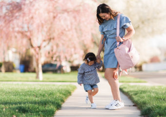 Mommy and Me Outfit: Ruffles and Adidas Superstars Black and White