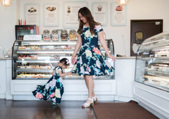 Mommy and Me Outfits: Floral Dresses + Heart Necklaces + Linkup!