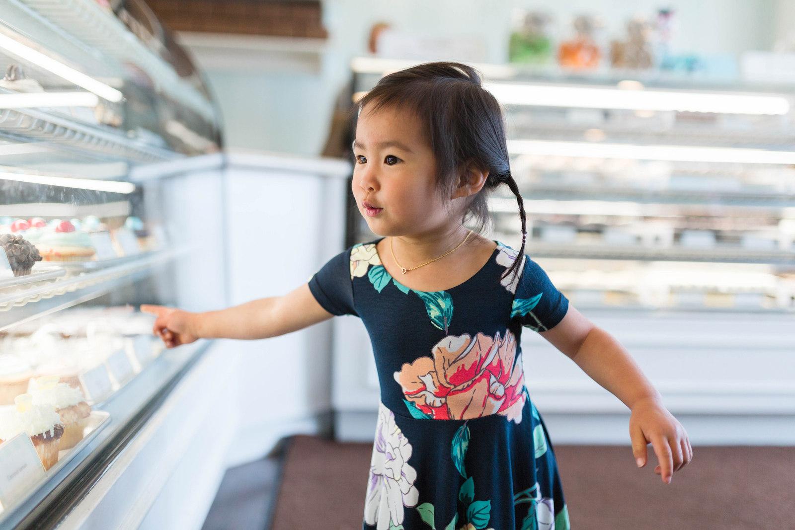 Toddler girl floral dress