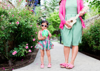 Mommy and Me Outfit: Pink and Green + Linkup!