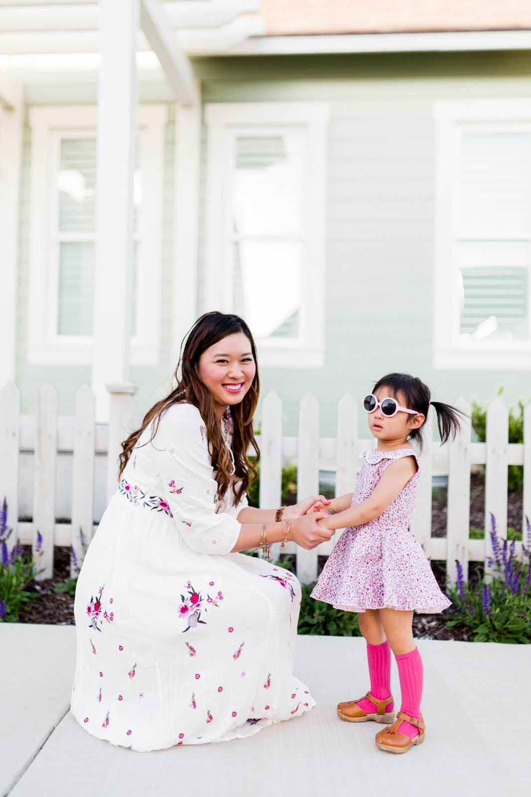 Mommy and Me Outfits - Floral Summer Dresses by fashion blogger Sandy A La Mode