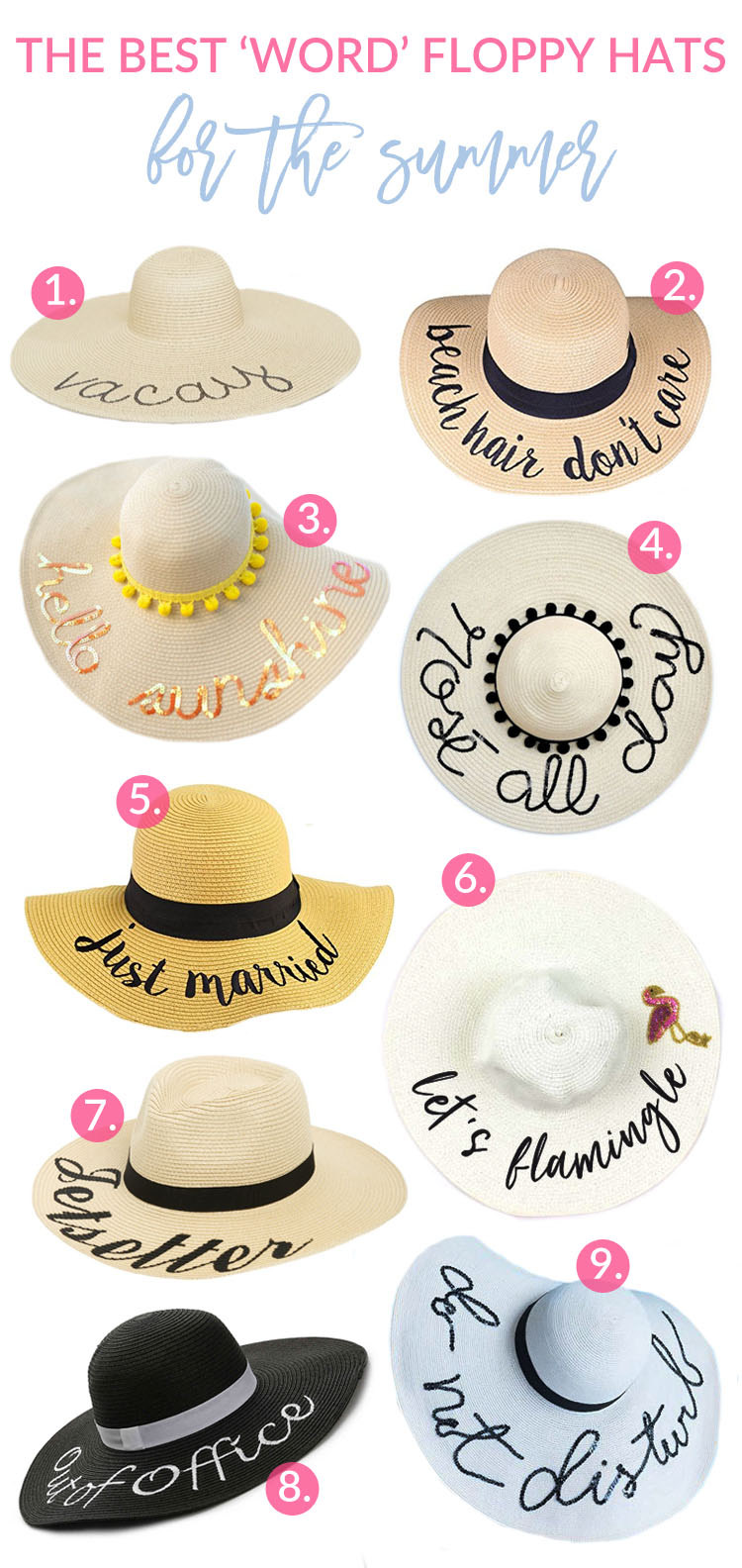 The Best Word Floppy Hats for This Summer by fashion blogger Sandy A La Mode