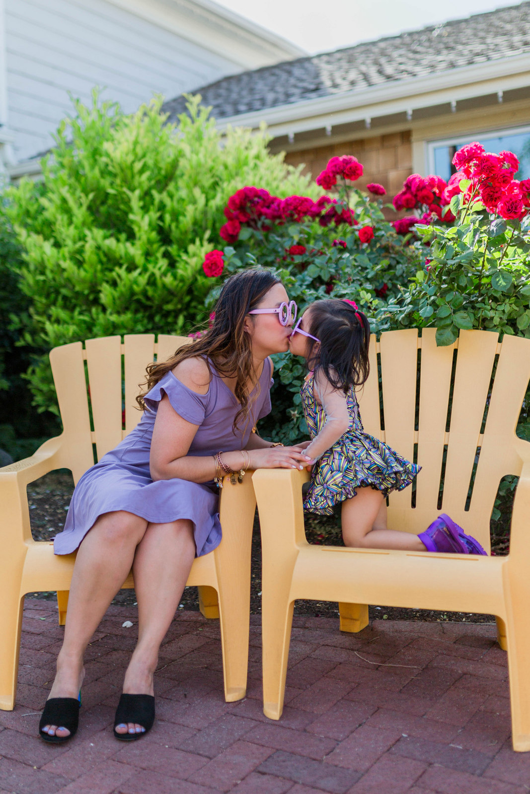 Mommy and Me Style: Shades of Purple Outfits by Utah fashion blogger Sandy A La Mode