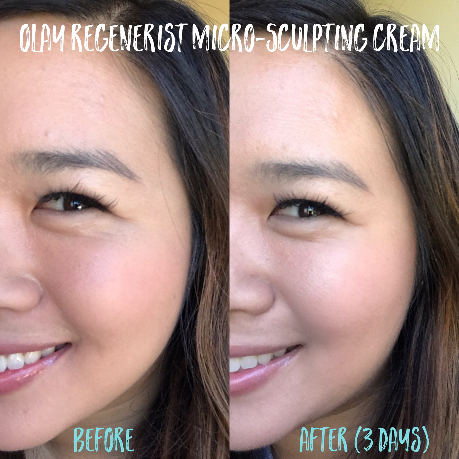 Olay Micro-Sculpting Cream Before and After