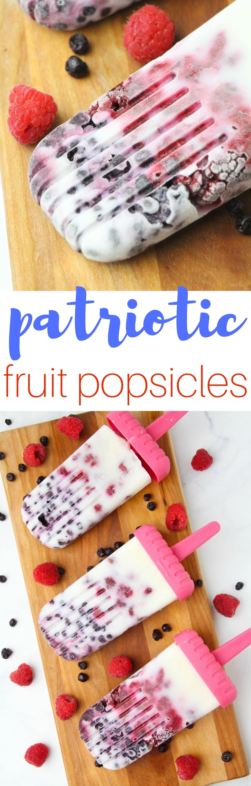 How To Make Patriotic Fruit Popsicles by popular Utah blogger Sandy A La Mode