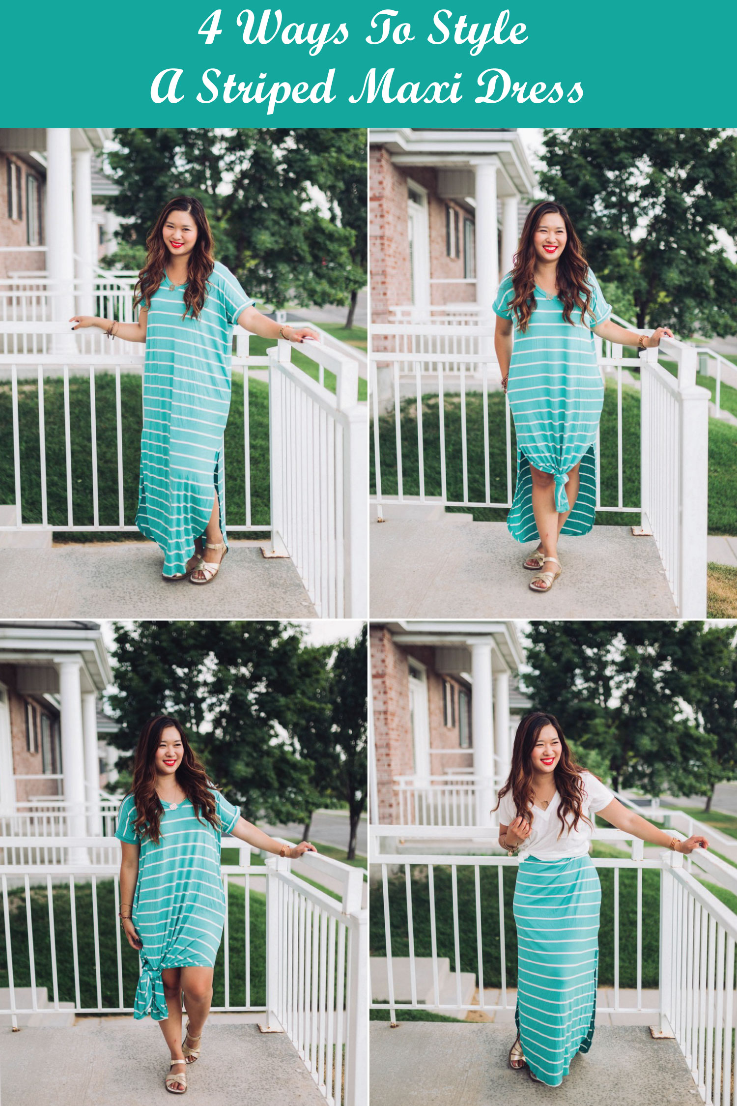 Different ways to style a maxi dress