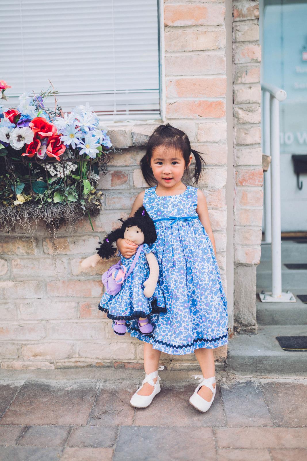 Matching Girl and Doll Outfits by Utah blogger SandyALaMode