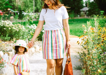 Mommy and Me Outfits: Rainbow Stripes + Linkup!