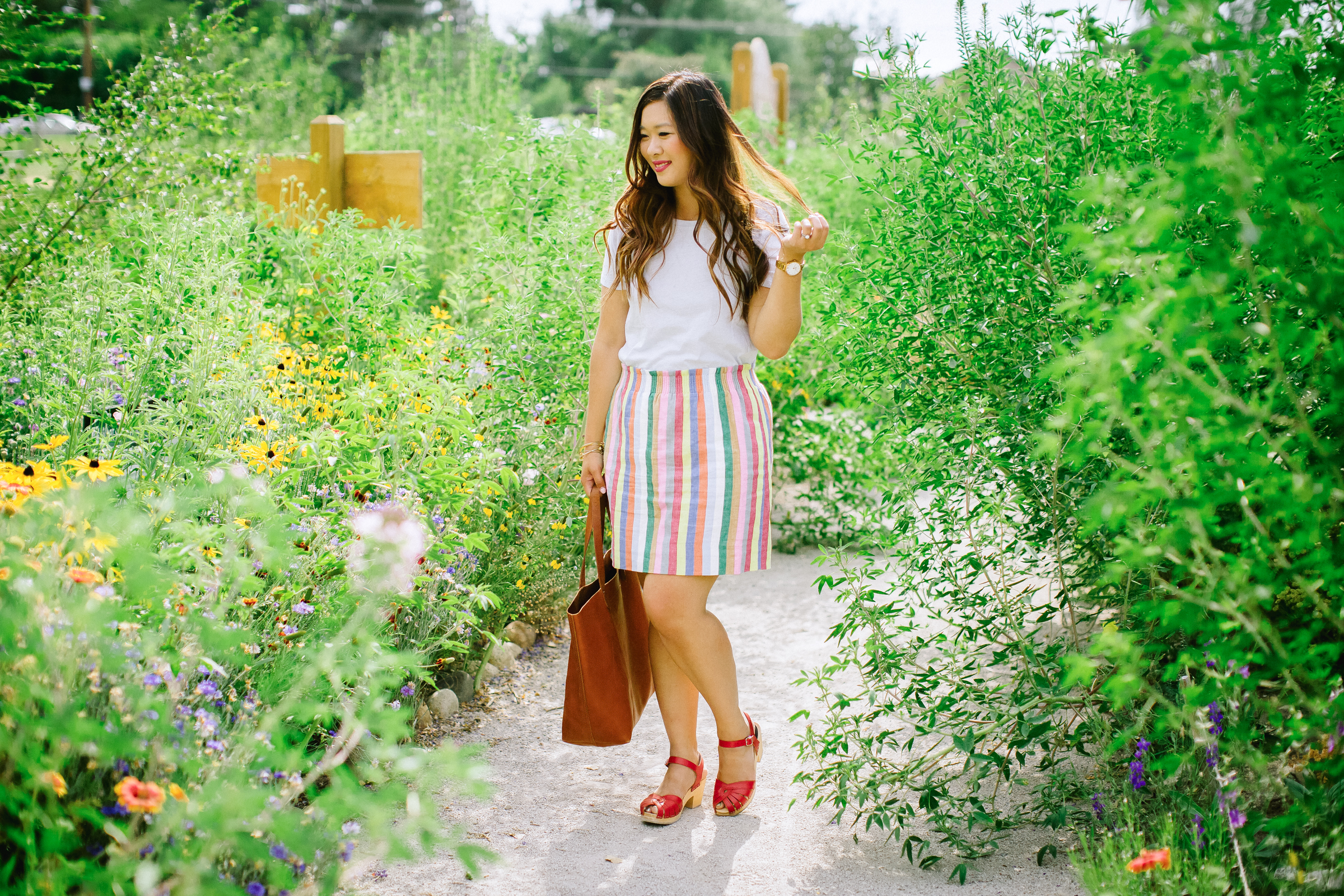 Mommy and Me Outfits: Rainbow Stripes by Utah fashion blogger Sandy A La Mode
