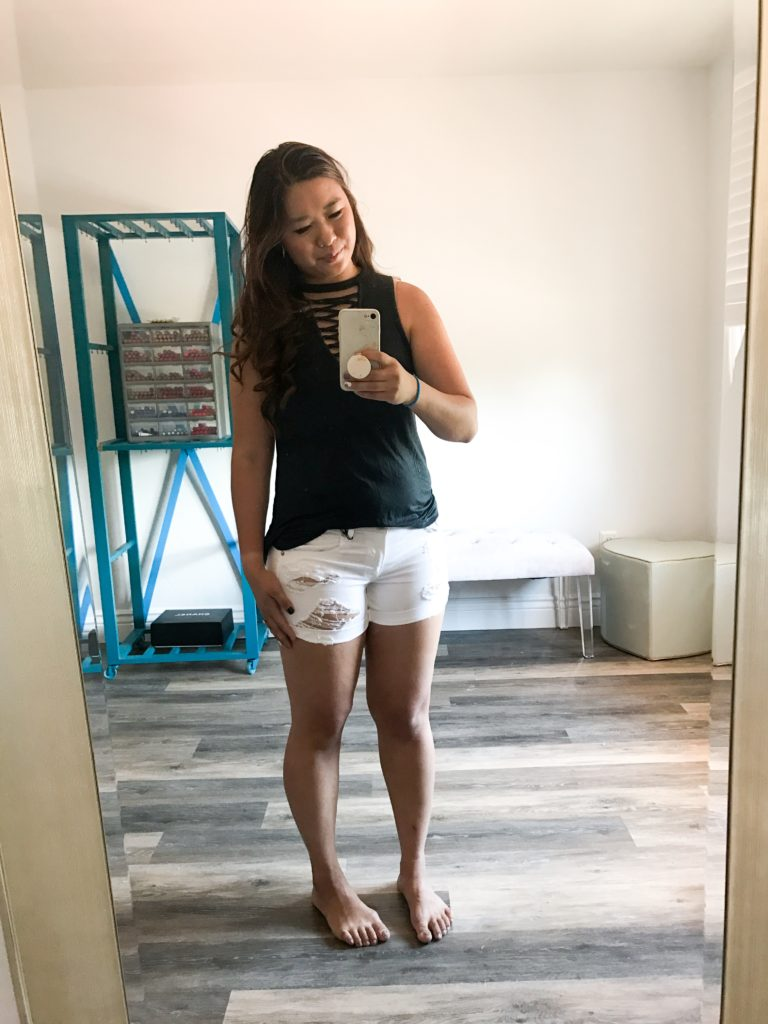 9 of The Best Summer Shorts Under $50 by Utah fashion blogger Sandy A La Mode