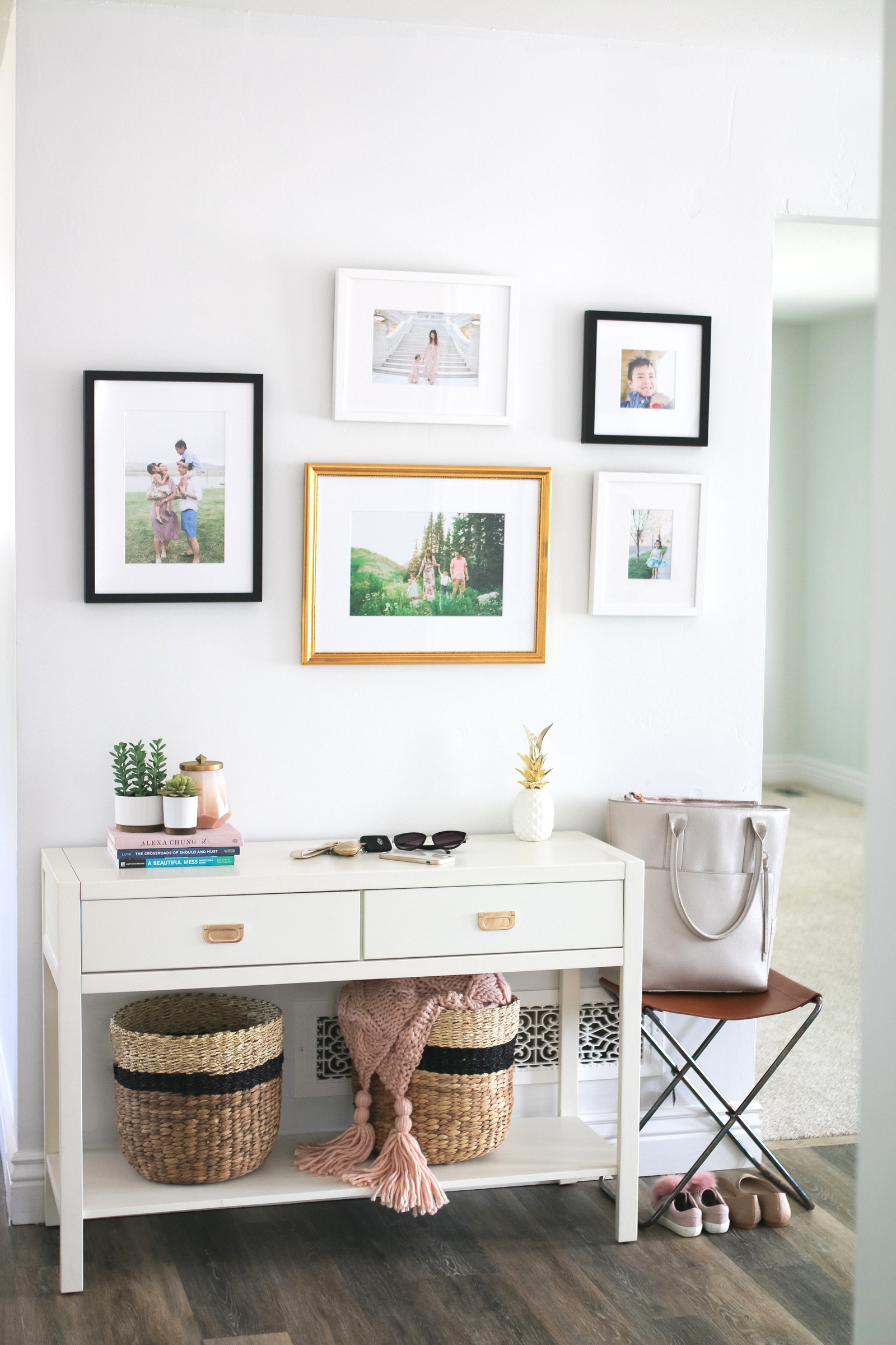 Our New Home Big Reveal: Stylish Entryway Decor Ideas by popular blogger Sandy A La Mode