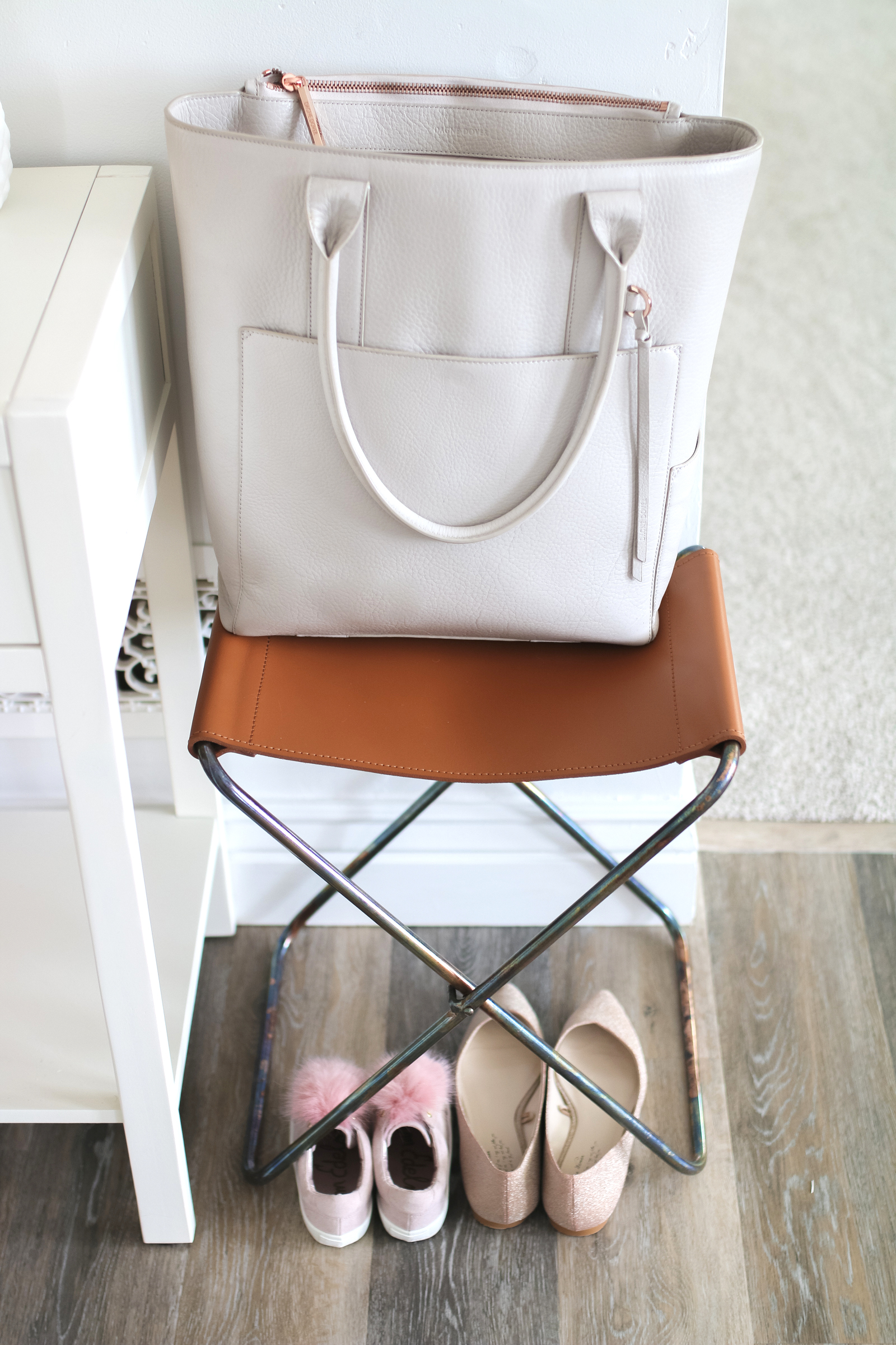 Our New Home Big Reveal: Stylish Entryway Decor Idea by popular blogger Sandy A La Mode