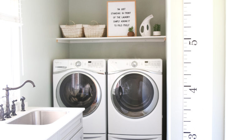 Our New Home Big Reveal: Functional & Spacious Laundry Room Ideas