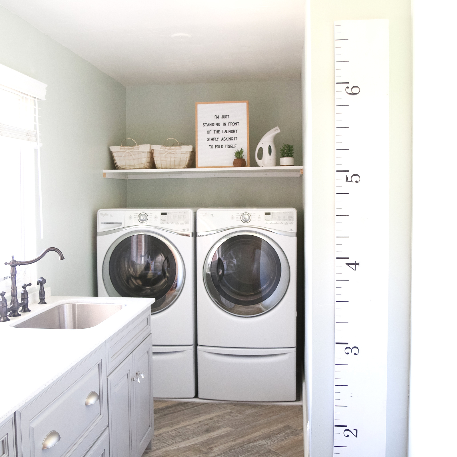 Our New Home Big Reveal: Functional & Spacious Laundry Room Ideas by popular Utah blogger Sandy A La Mode