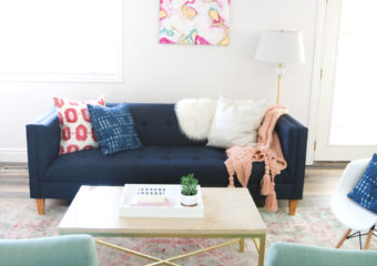 Our New Home Big Reveal: How We Styled Our Navy Couch