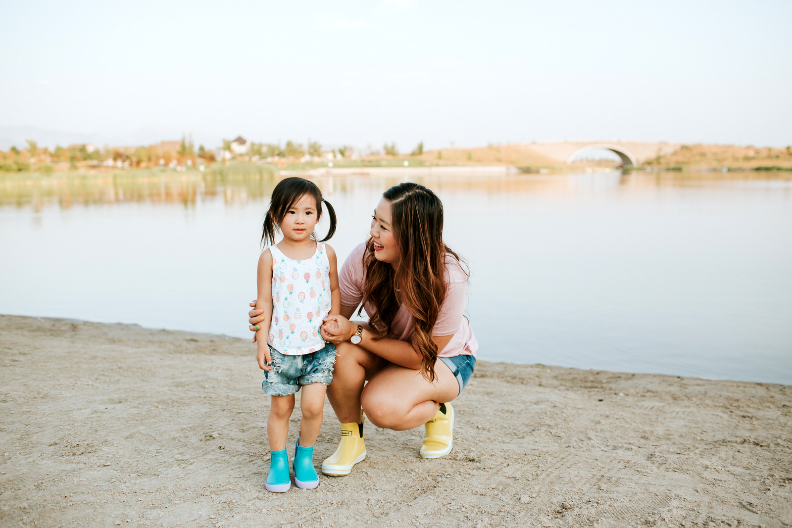 Mommy and Me Outfits: Cute Rain Boots by Utah fashion blogger Sandy A La Mode