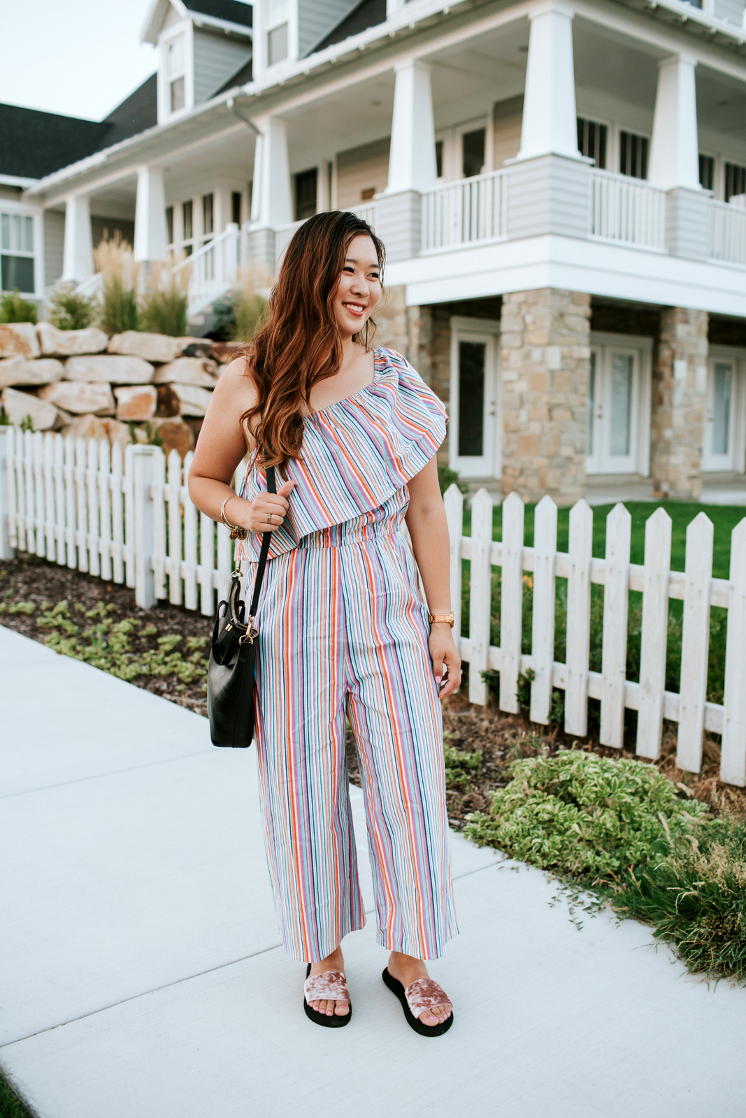 Famous Footwear Slides - Perfect For Back To School by Utah fashion blogger Sandy A La Mode