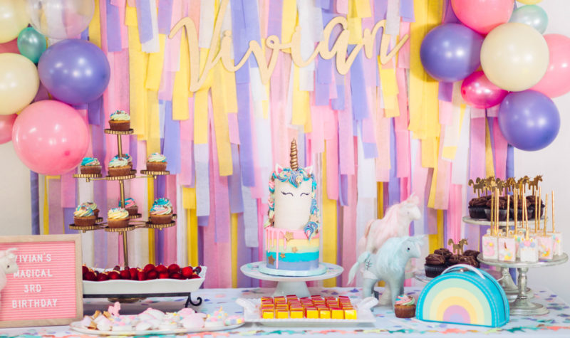 A Magical Unicorn Birthday Party – Vivan's 3rd Birthday!