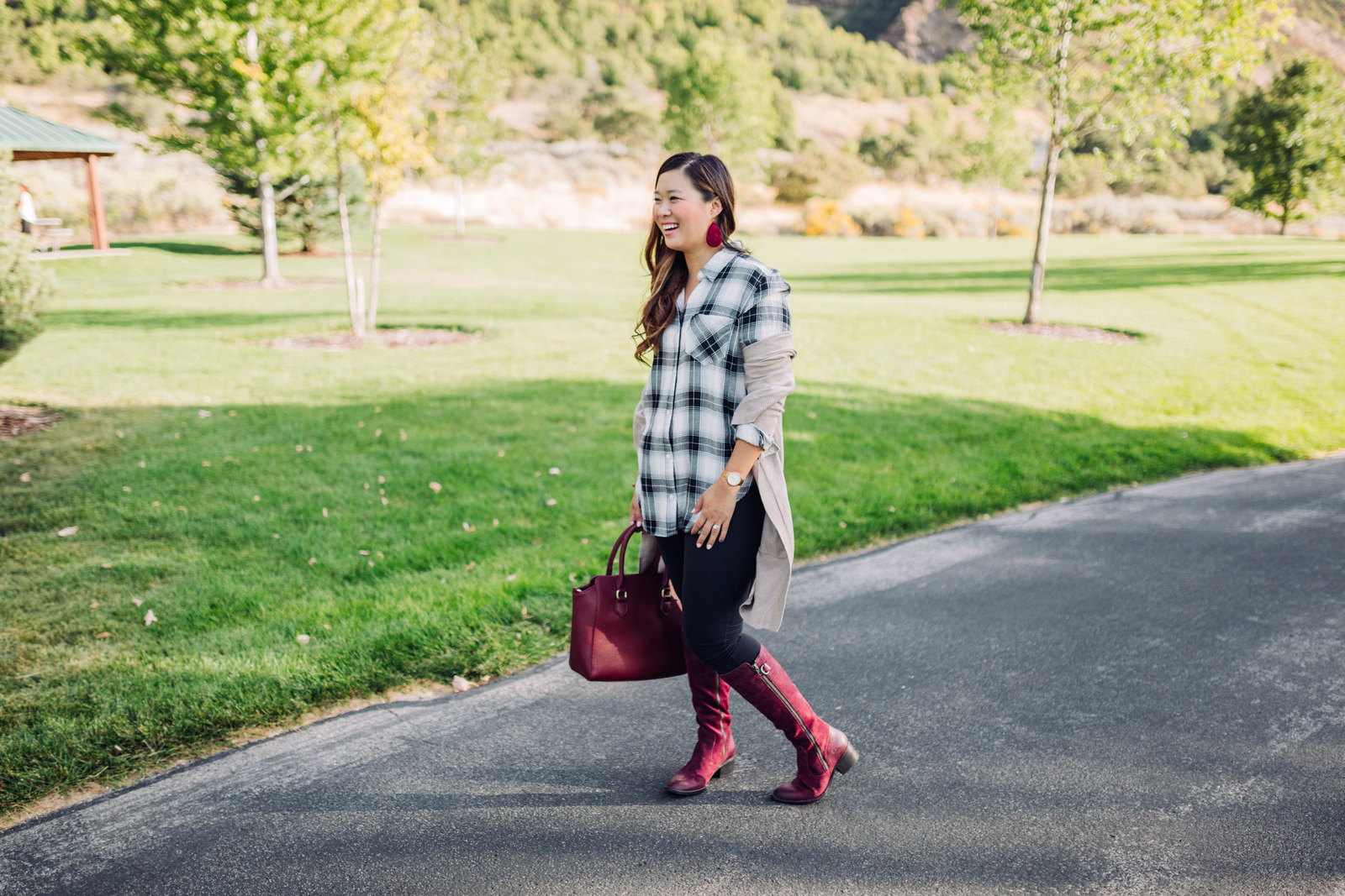 Boyfriend Cardigan and Boots Weather by Utah fashion blogger Sandy A La Mode