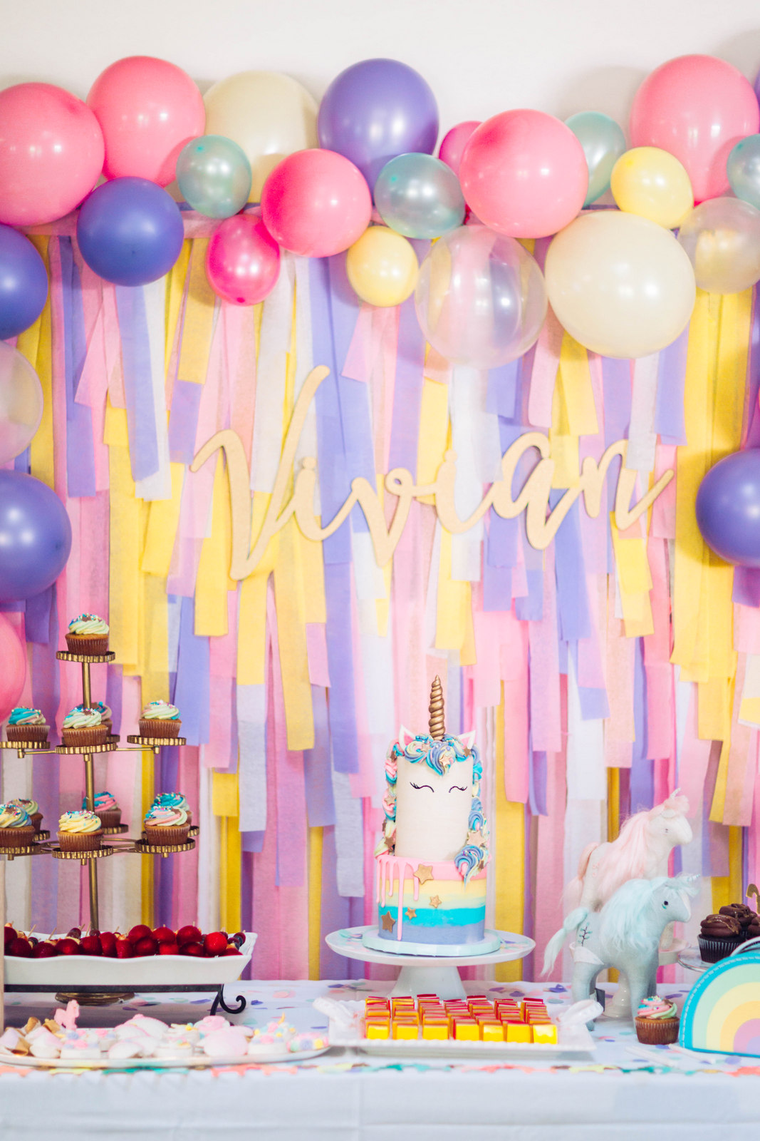 A Magical Unicorn Birthday Party - Vivan's 3rd Birthday! by Utah mom blogger Sandy A La Mode