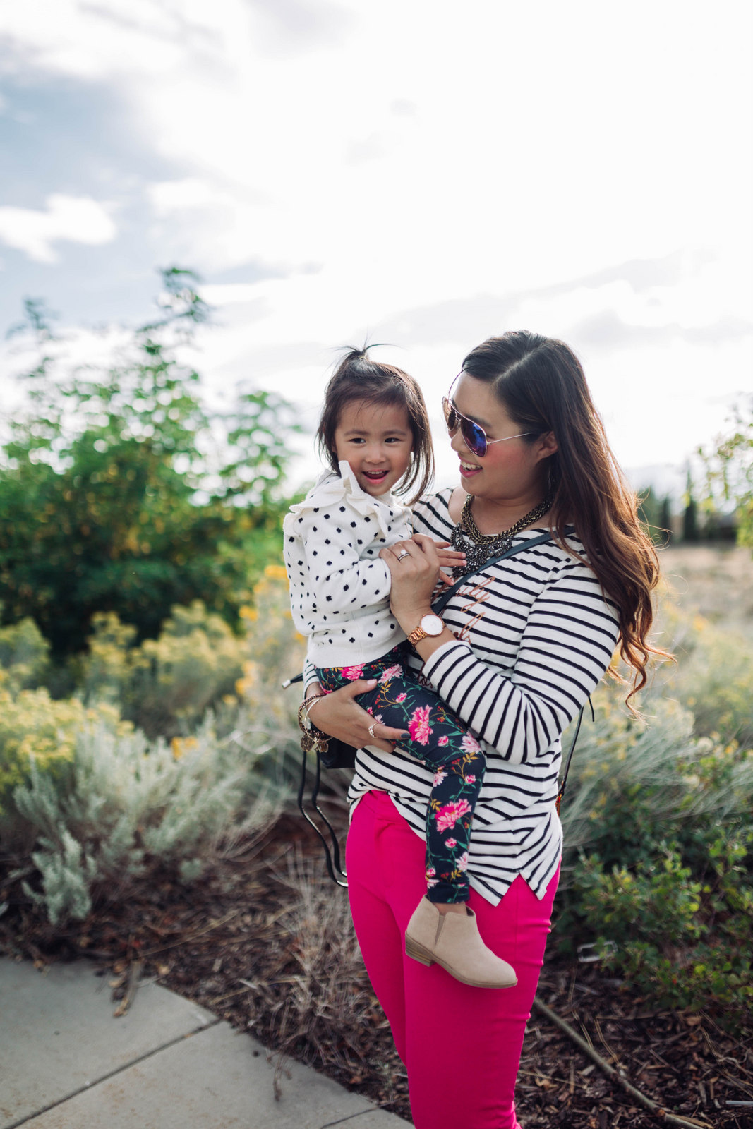 Mommy and Me Outfits: Old Navy Playful Prep by Utah fashion blogger Sandy A La Mode