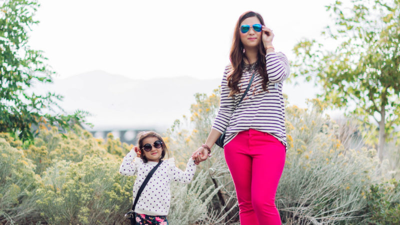 Mommy and Me Outfits: Old Navy Playful Prep + Linkup!