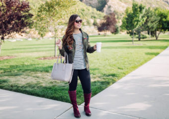 Burgundy Knee High Boots For Fall + Linkup!