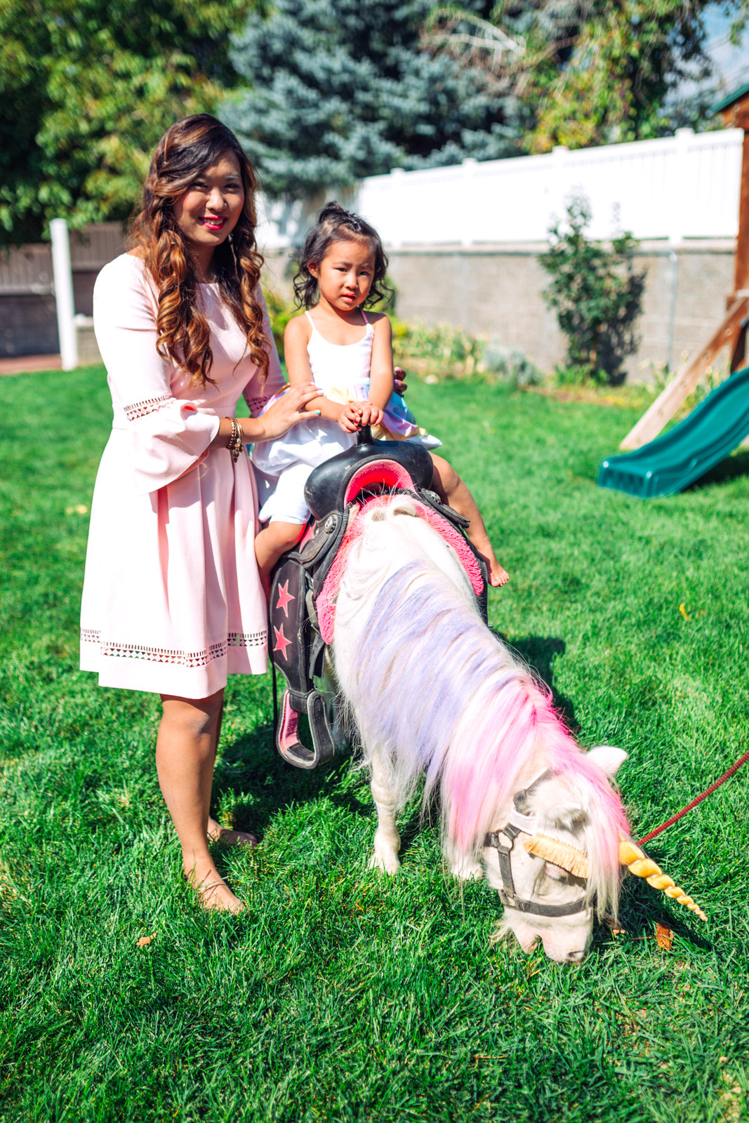 A Magical Unicorn Birthday Party - Vivian's 3rd Birthday! by Utah mom blogger Sandy A La Mode