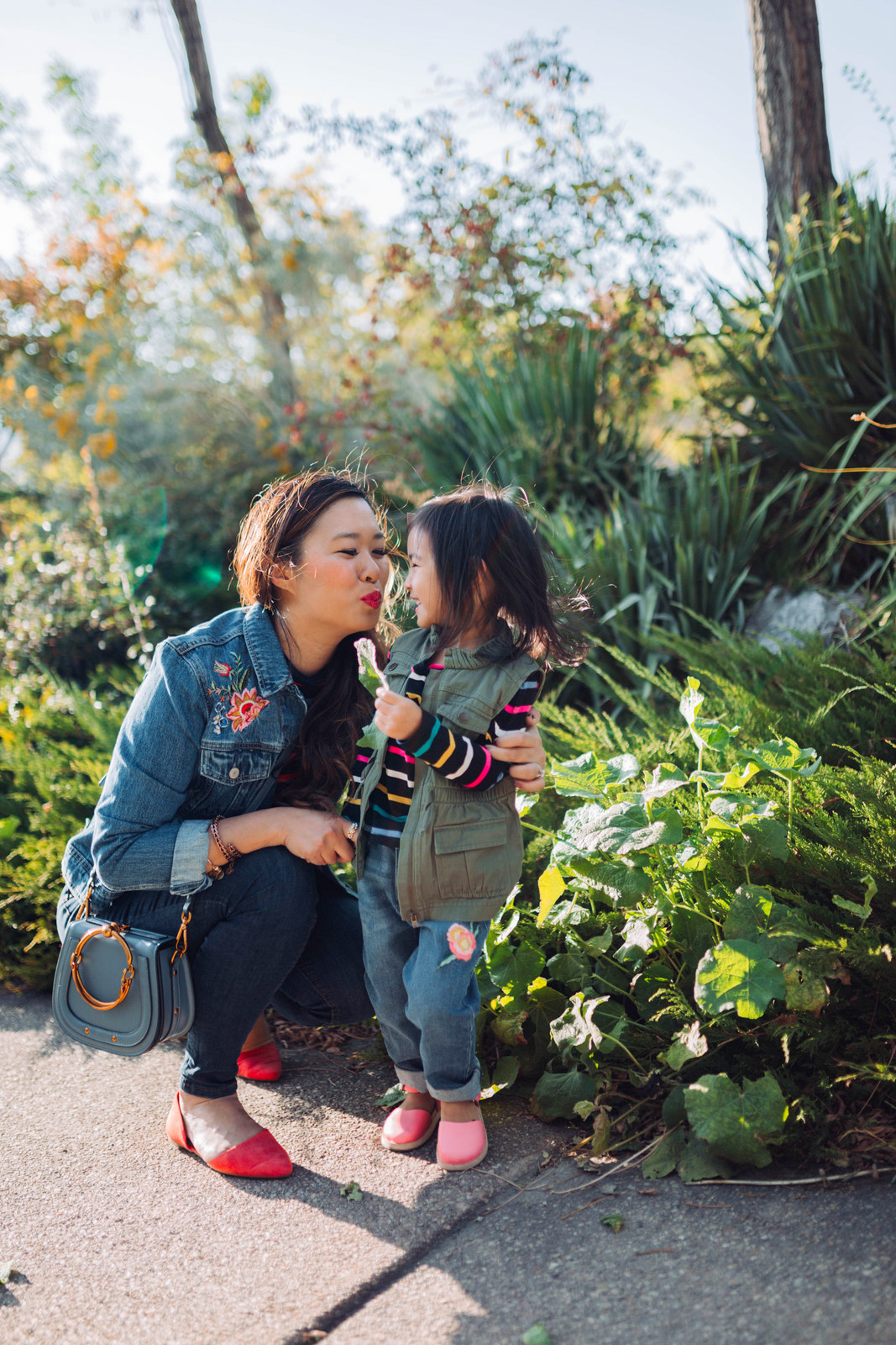 mommy and me outfits  embroidered denim  sandyalamode